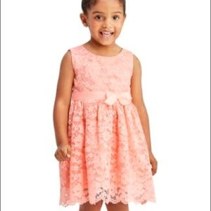 3/$20 Toddler Girl (4T) Lace Pink Dress